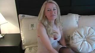 AllOver30 - This old but sexy MILF takes the cock deep down her throat
