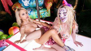 The Alix Lynx - Crazy Clown Strip Club lesbian fucking!