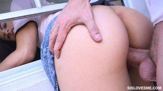 Sis Loves Me - Poor Stepsis Stuck With My Penis In Her!