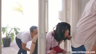 Family Strokes - Yes, Her New Stepbrothers Are Total Dicks!