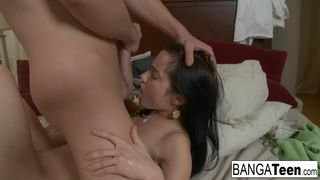 Horny Russian Teen Treats her Man to some Anal Sex!