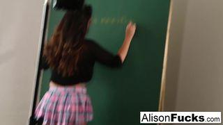 Naughty Masturbating School Girl Alison Tyler has to Stay after School!