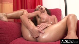 ALS Scan - Gina Devine Tugs on her Labia and Gapes her Pussy then Cums