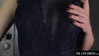 Horny Blonde Masturbates Hard in a Bondage Cage