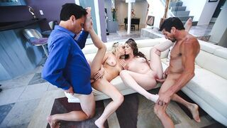 Daughter Swap - Hot Teens Trick their Step Dads into Fucking