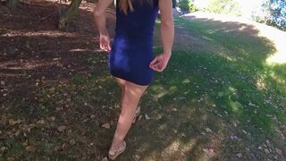 Public Sex in a Park Ends with Lots of Cum in her Panties - Caught twice