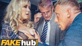 Fakehub Originals - Big Tits MILF Fucked by BBC and Cuckold Husband in Pub Threesome Teen Big Ass