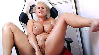 Secret Friends - Porn Star Angel Wicky live oil cum show at SecretFriends