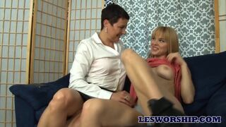 Les Worship - MILF Comforts her Horny Teen with Lesbian Sex