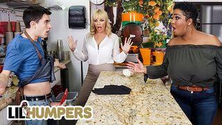 Lil Humpers - Curvy Milfs Dana Dearmond & Layton Benton Sharing Big Cock in a FFM Threesome