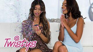 Twistys - Glitter Lesbians Veronica Rodriguez, Vienna Black Eat Ass