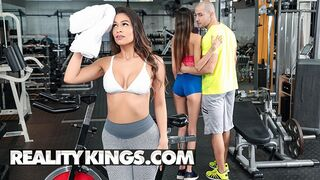 Reality Kings - Sexy Brunette Katana Kombat wants Dick more than Working out