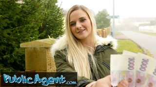 Public Agent - Cute Blonde Gets her Tight Shaven Pussie Slammed