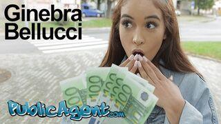 Public Agent - Celebrity look a like Ginebra Bellucci Fucked in POV