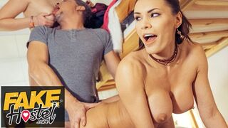 Fake Hostel - Happy Threesome with Super Sexy Dancing Babes