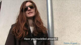 Public Agent - Redhead Ready To Become A Model
