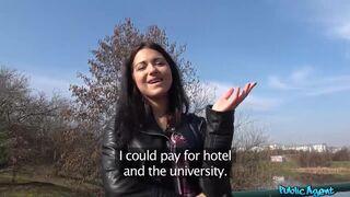 Russian Waitress Fucked in Public