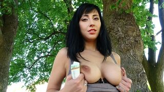 Public Agent - Sweet Ass Babe Fucked Against Fence