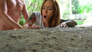 Public Agent - Tattooed Minx Bent Over And Fucked