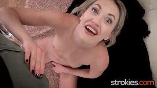 Strokies - three Horny Hotties Stroke Big Cock for Massive Load