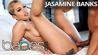 Babes - Short Haired Bubble Butt Jasamine Banks Takes some BBC in first BG Scene