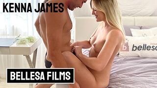 Bellesa Films - Kenna James and Nathan Bronson in Playful and Passionately Intense Sextape