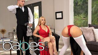 Babes - BABES - Blonde MILF Gets Worshiped in FFM Threesome