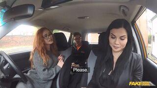 Fake Driving School - Threesome Driving Lesson