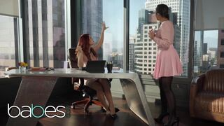 BABES - Redhead Boss Sits on her Assistant's Face