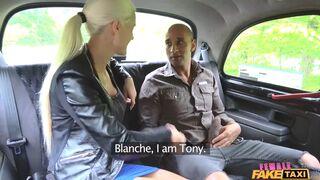 Female Fake Taxi - Big Black Cock Stretches Tight Lips