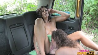 Female Fake Taxi - Big Tits Babe Licks Pussy on Bonnet