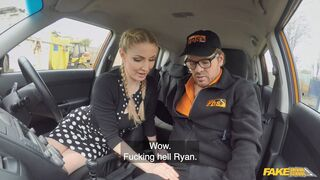 Fake Driving School - Instructor Spunks In Georgie's Mouth