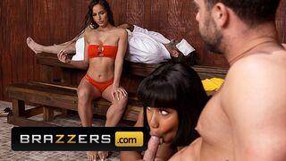 Brazzers - Interracial Cuckold Threesome in the Spa