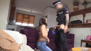 Fake Cop - Cock Home Inspection Taking Place