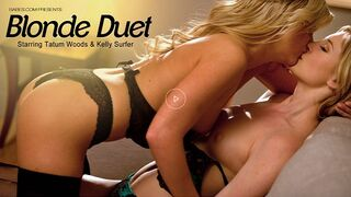 Babes - two Hot Blonds Kelly Surfer and Tatum Woods Lick Pussy