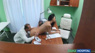 Fake Hospital - Routine Check-up With A Tongue In Asshole