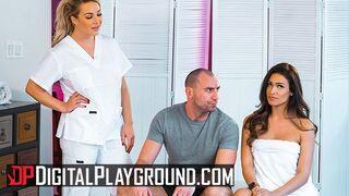 Digital Playground - Two Hot Babes Katana & Amber Jade Share a Big Cock