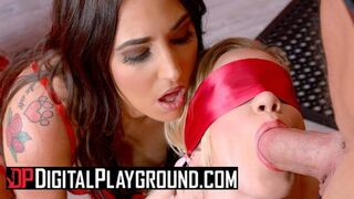 Digital Playground - Blonde Gets Bound and Blindfoled in Orgy