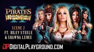 Digital Playground - Worlds best Porn Parody Pirates, Hot Blonde Threesome
