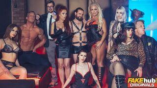 Fakehub Originals - Fake Sex Club Busty Real MILF Blonde and Redhead Threesome