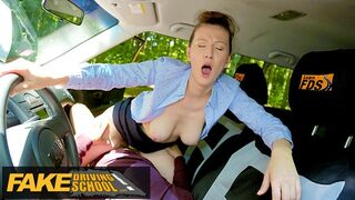 Fake Driving School - Female Instructor demands that her pussy gets eaten