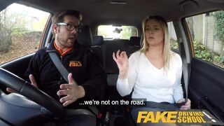 Fake Driving School - Czech Babe Nikky Dream Orgasms during Hard Fucking