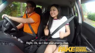 Fake Driving School - Sexy Japanese Rae Lil Black Hot for Instructors Cock