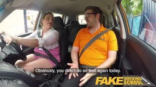 Fake Driving School - Busty Curvy Learners Horny Blowjob and Fucks to Orgasm