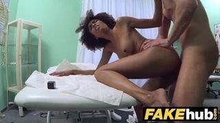 Fake Hospital - Doctor gives Sexy Ebony Brazilian Student a Hard Fucking