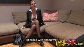 Fake Agent UK - UK Euro Babes Peachy Arse Fingered and Fucked in Casting