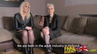 Fake Agent UK - UK Anal Threesome on the Casting Couch