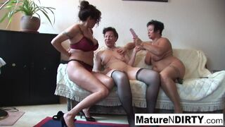 Mature N Dirty - Sexy Lesbian Threesome Action with some Hot Grannies!