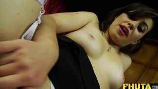 FHUTA - French Babe Tiffany Doll is so Horny that she Plays with her Anal Toys in the Office