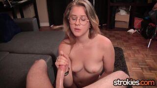 Teen Newbie Taylor Blake Pumps Big Cock for Cum